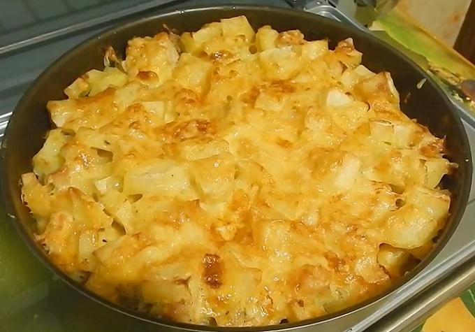 Готовая куриная грудка с картошкой