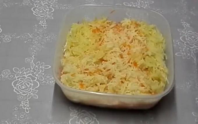 Третий слой - картошка