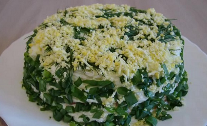 Мимоза - сайра с рисом