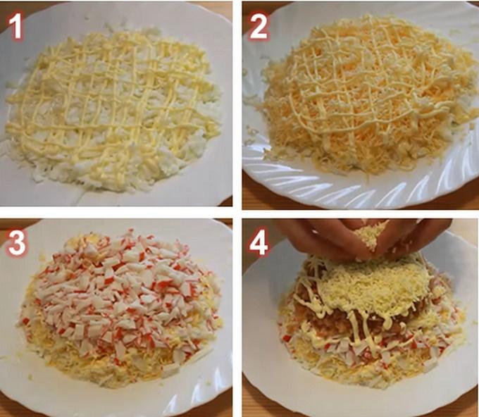 Собираем салат в салатнице