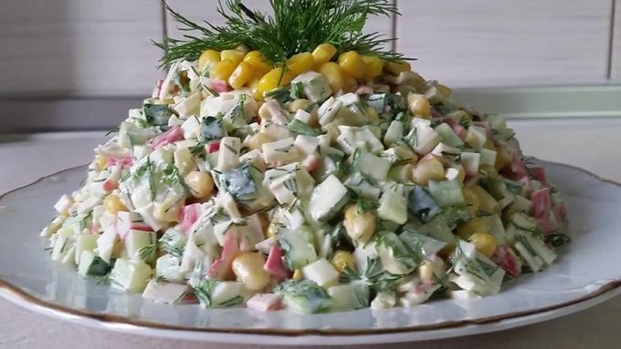 Салат крабовые палочки без риса