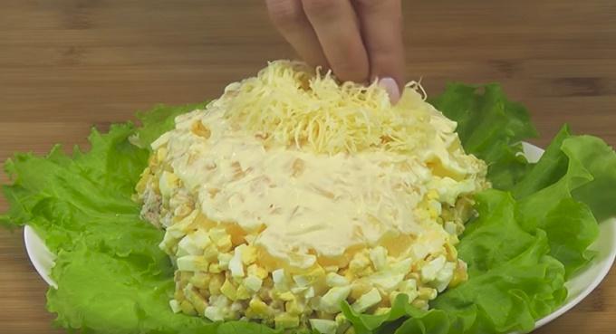 5 слой - тертый сыр