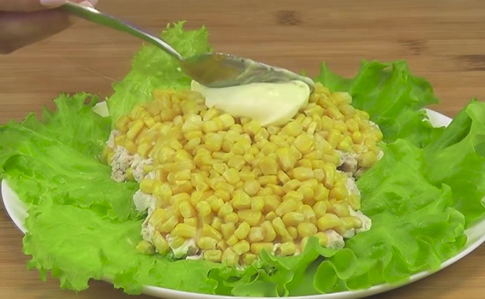 2 слой - кукуруза