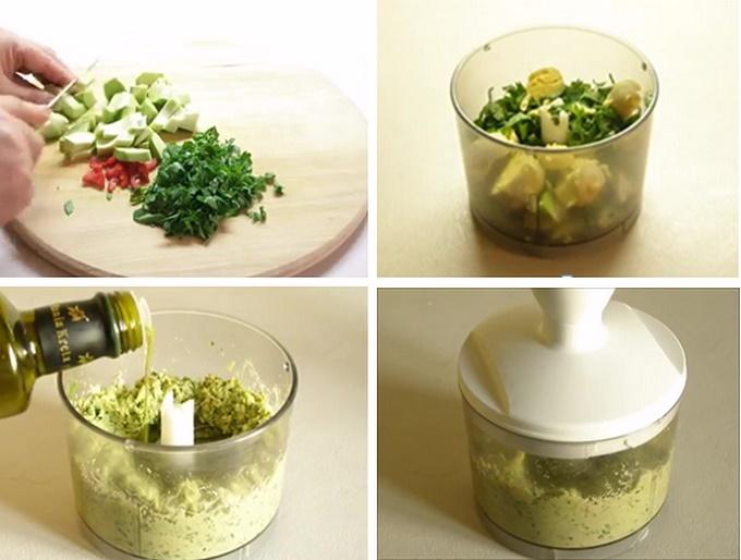 заправка для соуса с авокадо