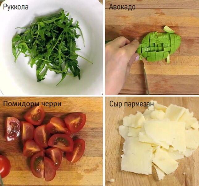 Нарезаем черри авокадо сыр