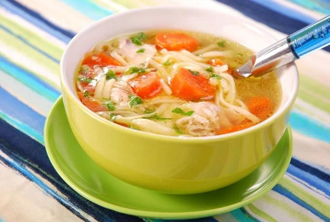 Суп из курицы - простой и вкусный