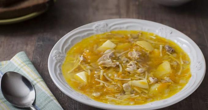 Суп из курицы с вермишелью и картошкой