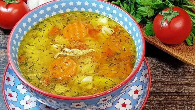 Суп из курицы в мультиварке