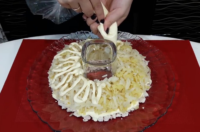 Второй слой - картошка