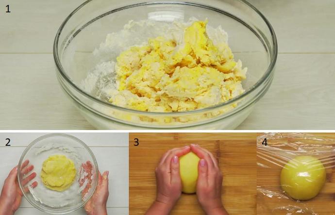Вымешиваем тесто для лапши
