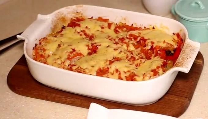 Фаршируем перец помидорами и сыром в лодочках