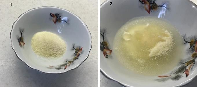 Разводим в воде желатин