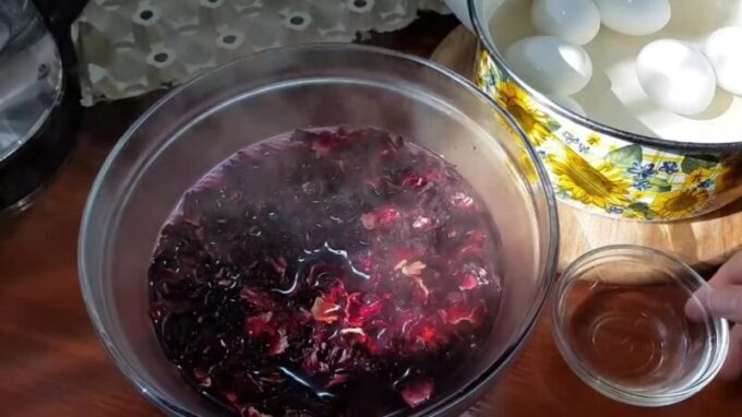 Чай каркаде для покраски яиц