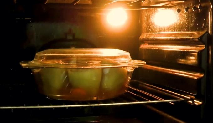 Ставим перцы в духовку