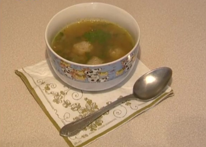 Готовый суп с фрикадельками для детей