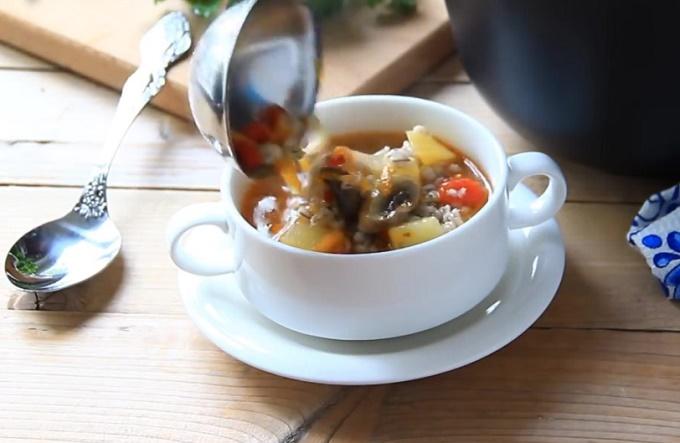 Готовый вкусный суп