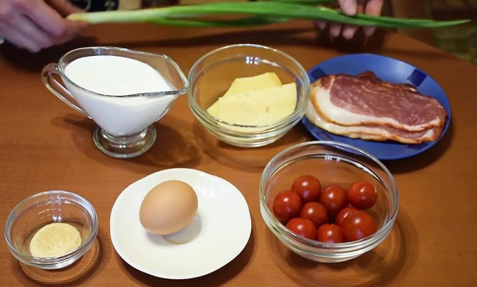 Киш Лорен - ингредиенты для начинки