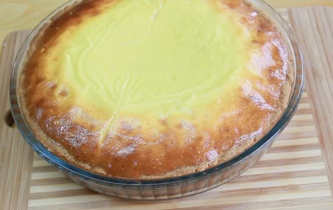 Пирог киш с фаршем запекаем в духовке