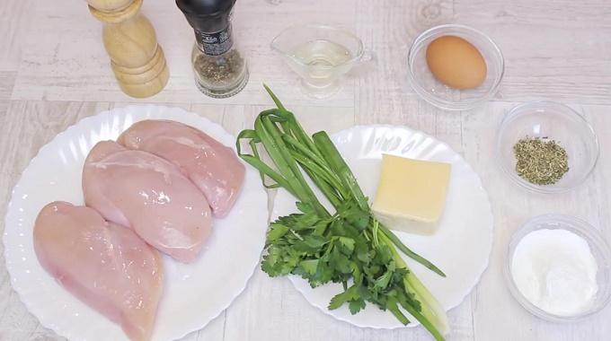 Ингредиенты для рубленых котлет с сыром