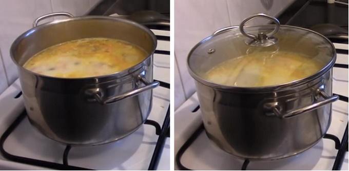 Суп под крышкой томится