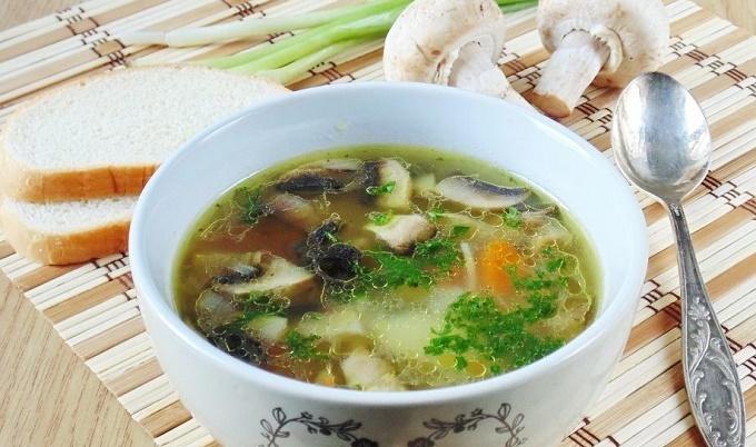 Суп из шампиньонов с картошкой пошагово