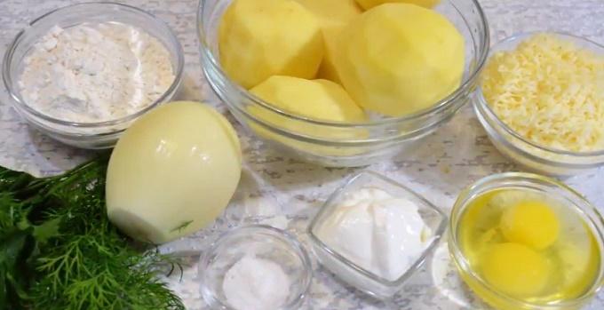 Ингредиенты для драников с сыром