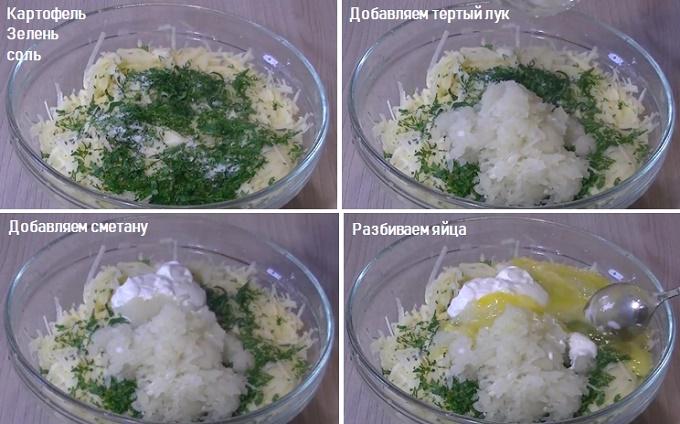 В готовую массу натираем сыр