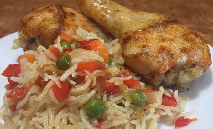 Курица с рисом на ужин