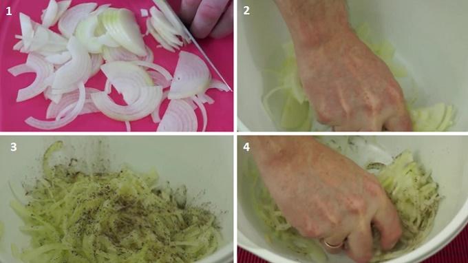 готовим лук для маринада