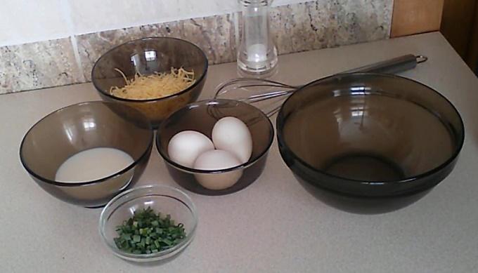 Ингредиенты для омлета с сыром