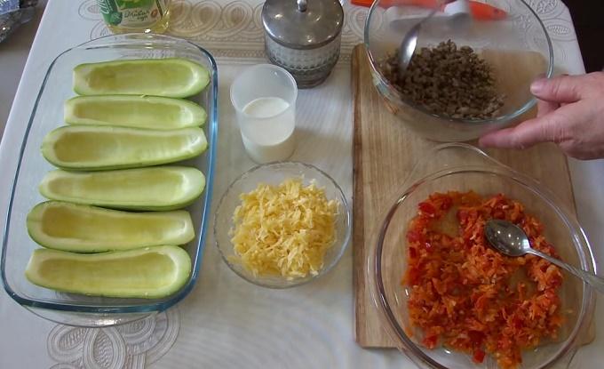 овощи и фарш готовы