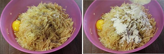 Добавляем яйцо и муку