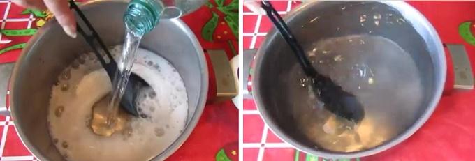 Растворяем соль в минералке