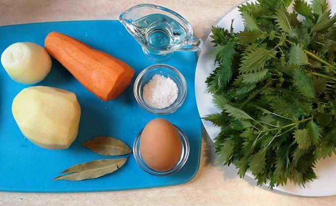 Суп из крапивы - ингредиенты