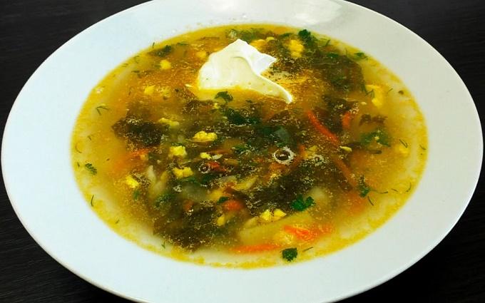 Суп с консервированным щавелем