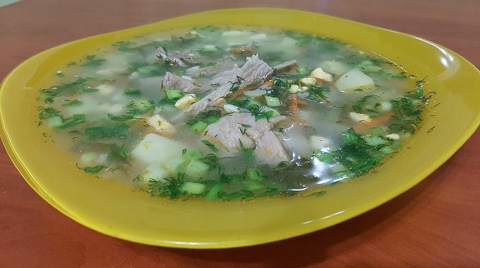 Суп щавелевый с рисом и яйцом