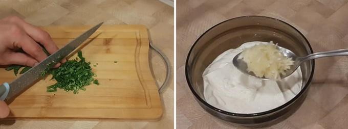 Готовим чесночно-сметанный соус