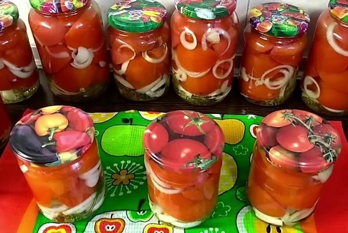 Готовые резаные помидоры