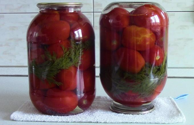 Маринованные помидоры на 2 литровую банку
