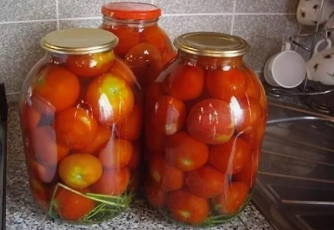 Маринованные помидоры на 3 литровую банку