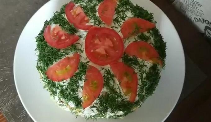 Торт из кабачков с помидорами и сыром