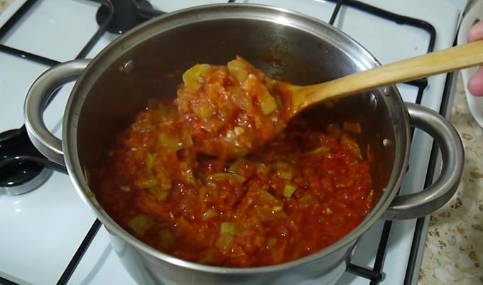 Тушеные овощи готовы