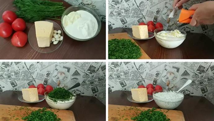 Заправка для салата - сметанно-майонезный соус