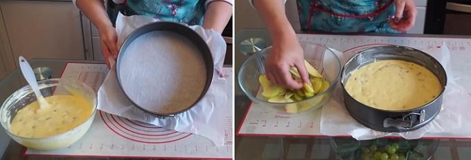 Укладываем тесто в форму для запекания