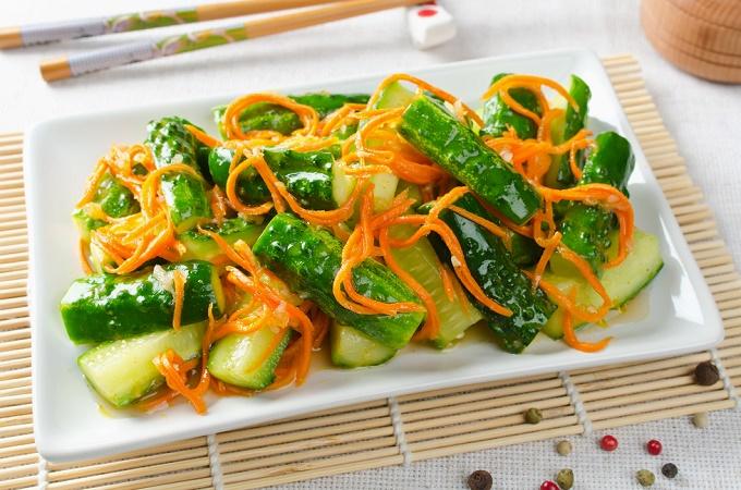Огурцы по-корейски быстрого приготовления — 7 самых вкусных рецептов